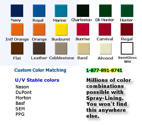 Rhino Liner Colors >> Custom Color Truck Bedliner